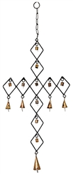 "Wholesale Diamond Cross Windchime 28""H"