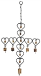 "Wholesale Heart Cross Windchime 24""H"