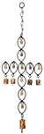 "Wholesale Oval Cross Windchime 26""H"