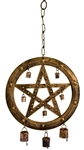 "Wholesale Pentacle Windchime 18.5""H"