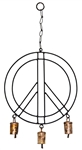 "Wholesale Peace Windchime 20""H, 10""D"