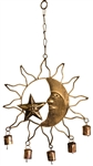 "Wholesale Sun, Moon & Star Windchime 12""H"