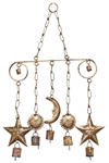 "Wholesale Sun, Moon & Star Windchime 11""W, 20""H"