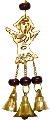 "Wholesale Angel Brass Wind Chime With Beads 9""L"
