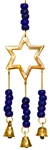 "Wholesale Star Brass Wind Chime With Beads 9""L"