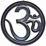 "Wholesale Om Wood Wall Hanging - Black 12""D"
