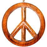 "Wholesale Peace Wood Wall Hanging with Hemp Cord - 10""D"