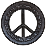 "Wholesale Peace Wood Wall Hanging - 12""D"