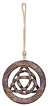"Wholesale Triquetra Wood Wall Hanging 5""D"