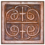 "Wholesale Celtic Hand Carved Wood Wall Hanging 12""X12"""