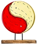 "Wholesale Yin Yang Wood Table Decor 10""W, 13""H"