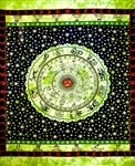 Wholesale Astrological Tapestry 69'x108' (Green)