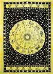 "Wholesale Astrological Tapestry 74""x 102"" (Yellow)"