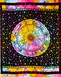 "Wholesale Astrological Tapestry 74""x 102"" (Tiedye)"