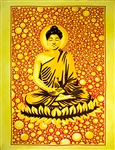 "Wholesale Buddha Tapestry 84""x 103"" (Yellow)"