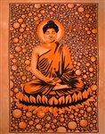 "Wholesale Buddha Tapestry 84""x 103"" (Orange)"