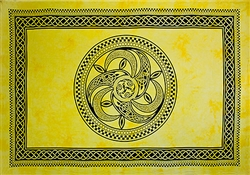 "Wholesale Celtic Chakra Tapestry 72""x 108"" (Yellow)"