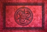 "Wholesale Celtic Chakra Tapestry 74""x 104"" (Red)"