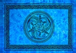 "Wholesale Celtic Chakra Tapestry 72""x 108"" (Turquoise)"