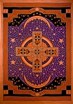 "Wholesale Celtic Cross Tapestry 75""x 105"" (Purple)"