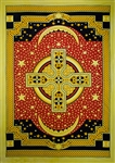 "Wholesale Celtic Cross Tapestry 72""x 105"" (Yellow)"