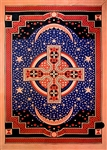 "Wholesale Celtic Cross Tapestry 75""x 105"" (Red)"