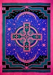 "Wholesale Celtic Cross Tapestry 76""x 106"" (Turquoise)"