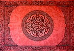 "Wholesale Celtic Mandala Tapestry 72""x 108"" (Red)"
