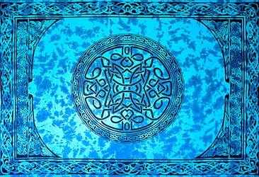 "Wholesale Celtic Mandala Tapestry 72""x 108"" (Turquoise)"
