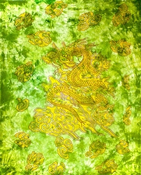 Wholesale Dragon Tapestry 69'x108' (Green)