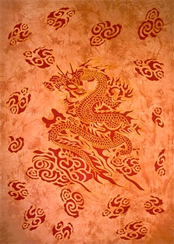 "Wholesale Dragon Tapestry 72""x 108"" (Red)"