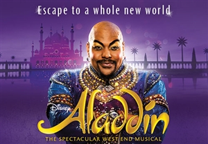 Aladdin theatre vouchers | Aladdin theatre tokens | Aladdin musical and dinner theatre gift experience package for two
