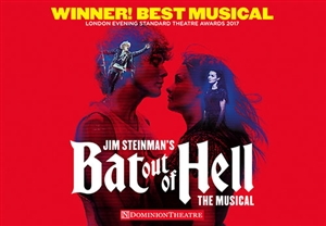 Bat Out Of Hell theatre vouchers | Bat Out Of Hell theatre tokens | Bat Out Of Hell musical and dinner theatre gift experience package for two