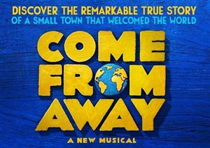 Come From Away theatre vouchers | Come From Away theatre tokens | Come From Away musical and dinner theatre gift experience package for two