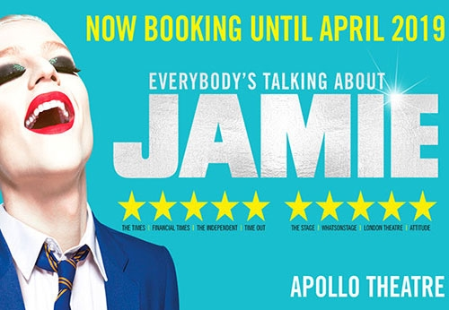 Everybody's talking about Jamie theatre vouchers and theatre tokens | Everybody's talking about Jamie musical and dinner theatre gift experience package for two