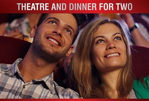Theatre vouchers | Theatre tokens | Theatre and dinner gift experience package for two