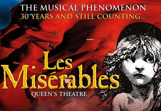 Les Miserables theatre vouchers | Les Miserables theatre tokens | Les Miserables musical and dinner theatre gift experience package for two