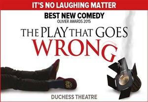 The Play That Goes Wrong theatre vouchers and theatre tokens | The Play That Goes Wrong show and dinner theatre gift experience package for two