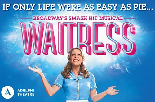 Waitress theatre vouchers | Waitress theatre tokens | Waitress musical and dinner theatre gift experience package for two