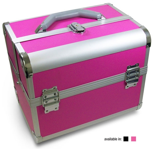 Salone Tray Surreal And Unconventional: Aluminum Beauty Case With Trays & Strap 79161, Cosmtics