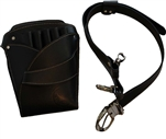 Samurai Hairdressing Scissors Leather Holster Holder Pouch Bag Black