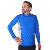 MEN'S LONG SLEEVE RASH GUARD - SEA BLUE/ICE GREY