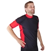 UV Protective Men's Short Sleeve Rash Guard in Black/Red from Sun Protection Zone