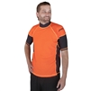 MEN'S SHORT SLEEVE RASH GUARD - ORANGE/BLACK