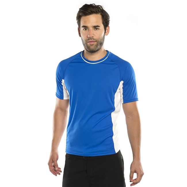 UV Protective Men's Short Sleeve Ultralite Shirt in Royal Blue from Sun Protection Zone