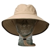 UV Protective Adult Booney Hat in Khaki with Olive Trim from Sun Protection Zone