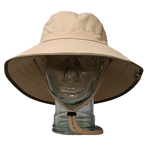 ADULT BOONEY HAT - KHAKI/OLIVE TRIM