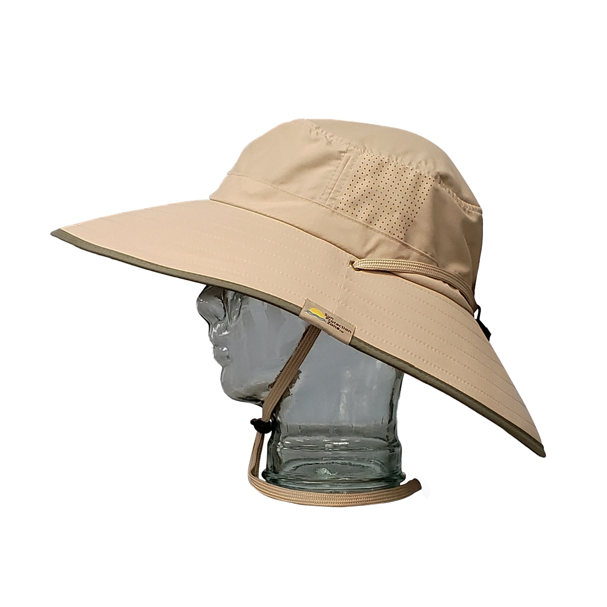 c53439382643b Adult Booney Hat - Khaki Olive Trim
