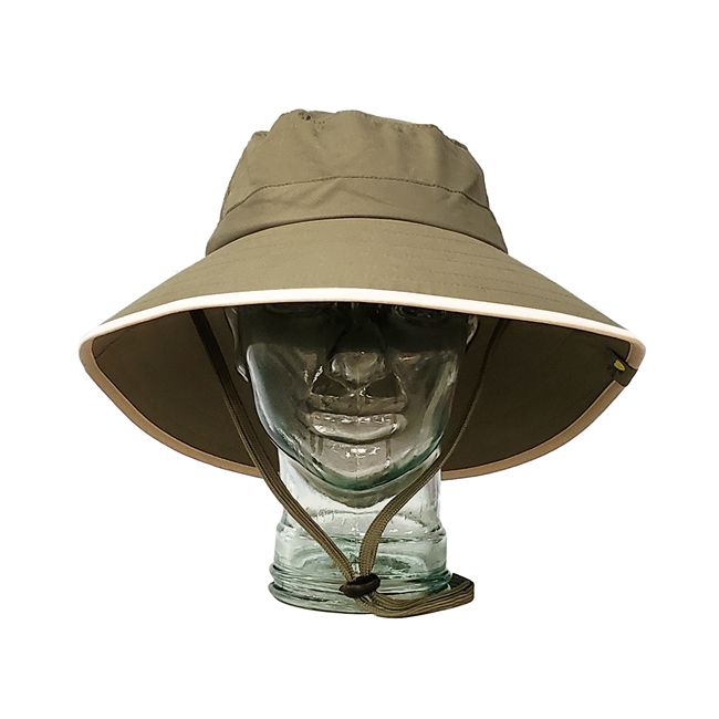 UV Protective Adult Booney Hat in Olive with Khaki Trim from Sun Protection Zone