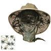 UV Protective Adult Booney Hat with Palm Print in Olive with Khaki Trim from Sun Protection Zone